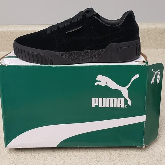 PUMA Cali Black Velvet Sneakers Boutique